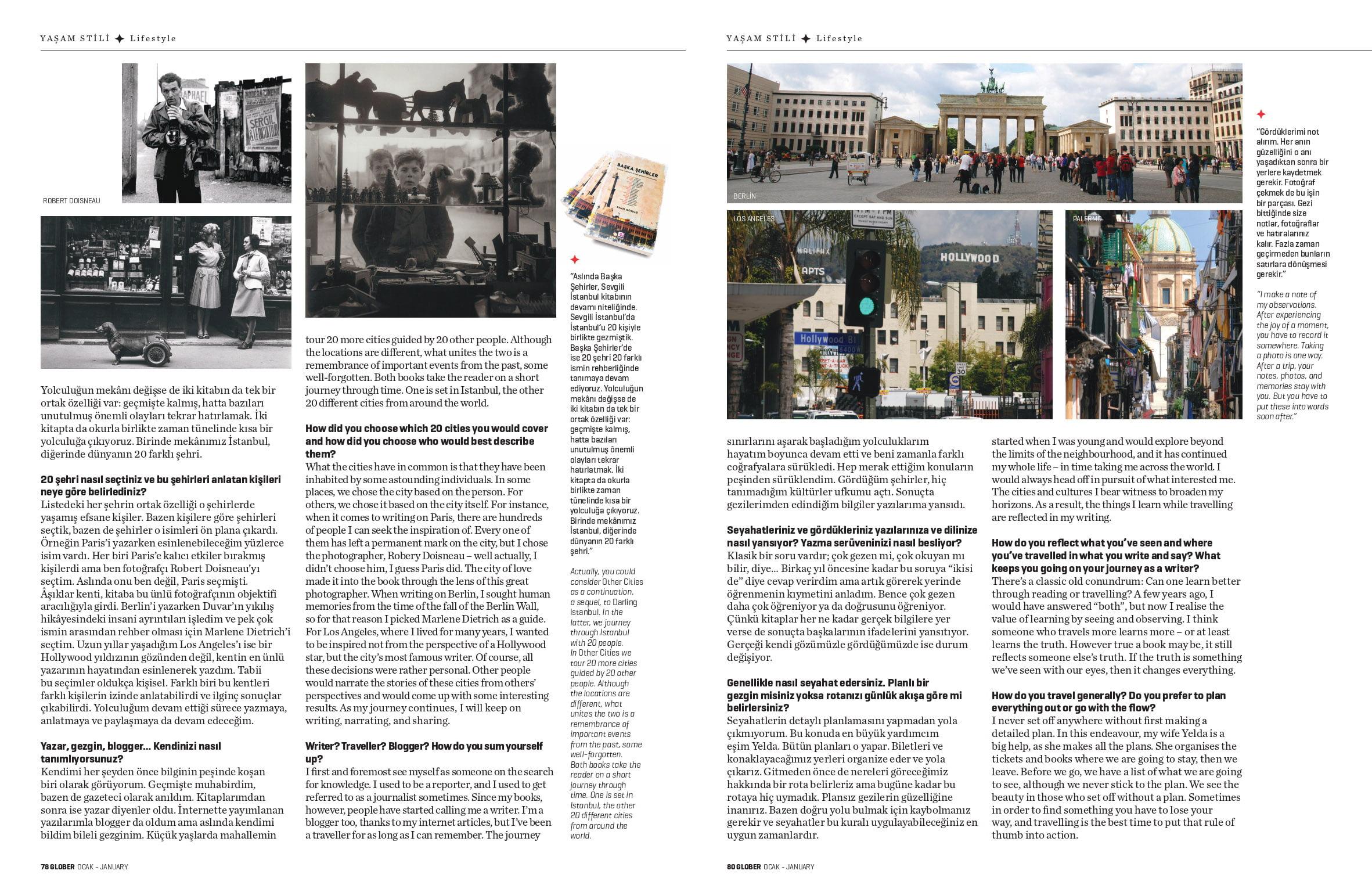 Glober Dergisi Başka Şehirler Remzi Gökdağ