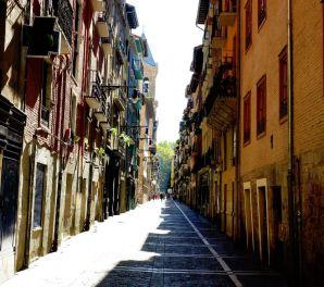 Pamplona sokaklarında